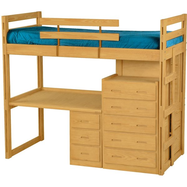 Crate Designs Ladder Style Twin Over Double Bunks Jowsey S